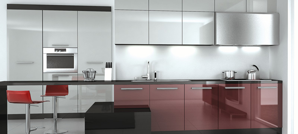 MDF and acrylics: Kitchen: ACR-302 i  ACR-304