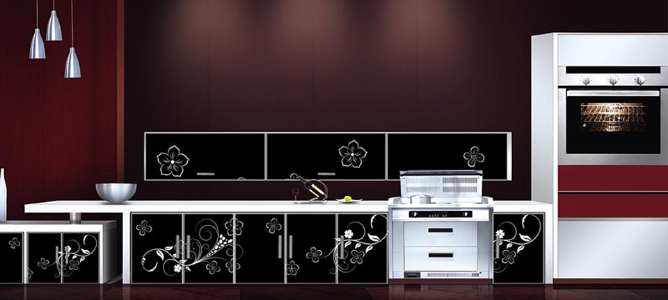 MDF and acrylics: Kitchen: Elegance