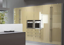 High gloss MDF and acrylic board panels from our supplys: Kitchen: Capuchino-Brown