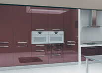 High gloss MDF and acrylic board panels from our supplys: Kitchen: Purple-White