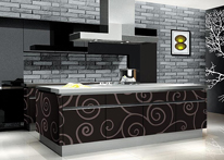 High gloss MDF and acrylic board panels from our supplys: Kitchen: Trendy