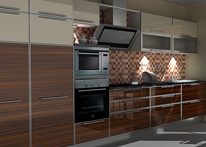 High gloss MDF and acrylic board panels from our supplys: Kitchen: Ebony