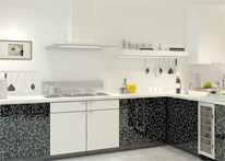 High gloss MDF and acrylic board panels from our supplys: Kitchen: Didim-White