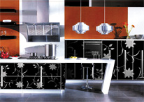 High gloss MDF and acrylic board panels from our supplys: Kitchen: Efesus
