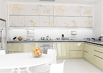High gloss MDF and acrylic board panels from our supplys: Kitchen: Marmaris-Beige silver