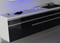 High gloss MDF and acrylic board panels from our supplys: Kitchen: Didim