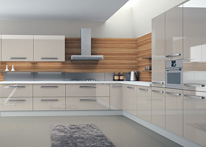 High gloss MDF and acrylic board panels from our supplys: Kitchen: Cream-Coco Freze