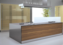 High gloss MDF and acrylic board panels from our supplys: Kitchen: Capuchino-Ebony