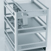 Aluminium Under-Workbench Unit With Division For Utensil/Cutlery And Bottles 1