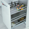 Aluminium Under-Workbench Unit With Division For Utensil/Cutlery And Bottles 2